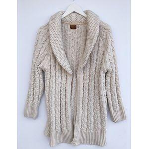POL knit cream open cardigan